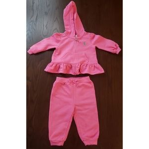 Ralph Lauren Baby Girl Jogger Set